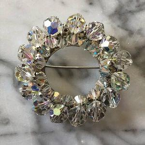 🔥 Vintage Aurora Borealis Wreath Brooch